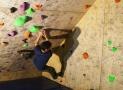 Sevi am neue Boulder testen